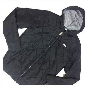 Vans black jacket. Light weight and waterproof